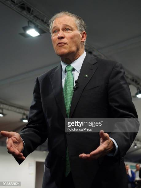 Jay Robert Inslee governor of Washington speaking at the United Nations Framework Convention on Climate Change UNFCCC COP23
