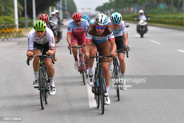 Jay Robert Thomson of South Africa and Team Dimension Data / Pavel Sivakov of Rusia and Team Sky / Silvan Dillier of Switzerland and Team Ag2R La...
