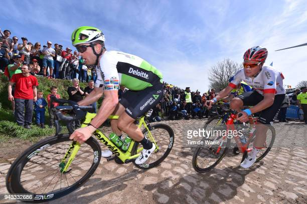 Jay Robert Thomson of South Africa and Team Dimension Data / Silvan Dillier of Switzerland and Team AG2R La Mondiale / Pave Cobblestones / Fans /...