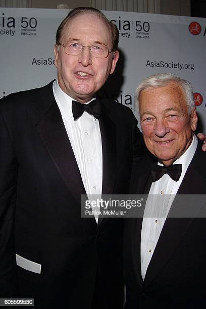 Jay Rockefeller and John C Whitehead attend ASIA SOCIETY 50th Anniversary Gala Dinner at WaldorfAstoria on February 23 2006 in New York City