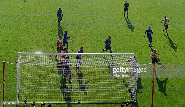Jay Rodriguez of Southampton scores his team's second goal past Kasper Schmeichel of Leicester City during the Premier League match between...