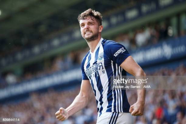 Jay Rodriguez of West Bromwich Albion celebrates after scoring a goal to make it 1-0 during the Premier League match between West Bromwich Albion and...