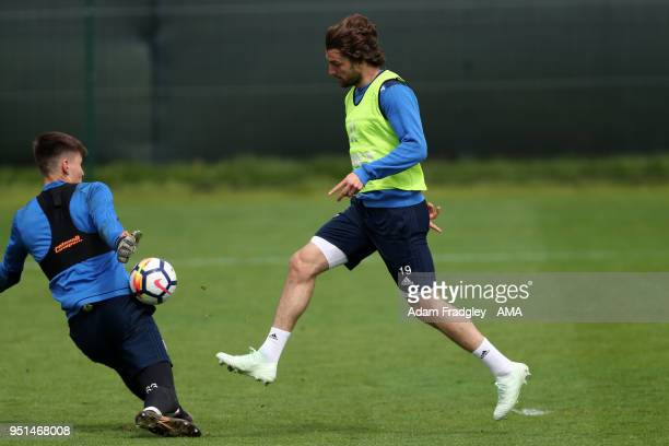 Jay Rodriguez of West Bromwich Albion during a West Bromwich Albion Training Session on April 26 2018 in West Bromwich England