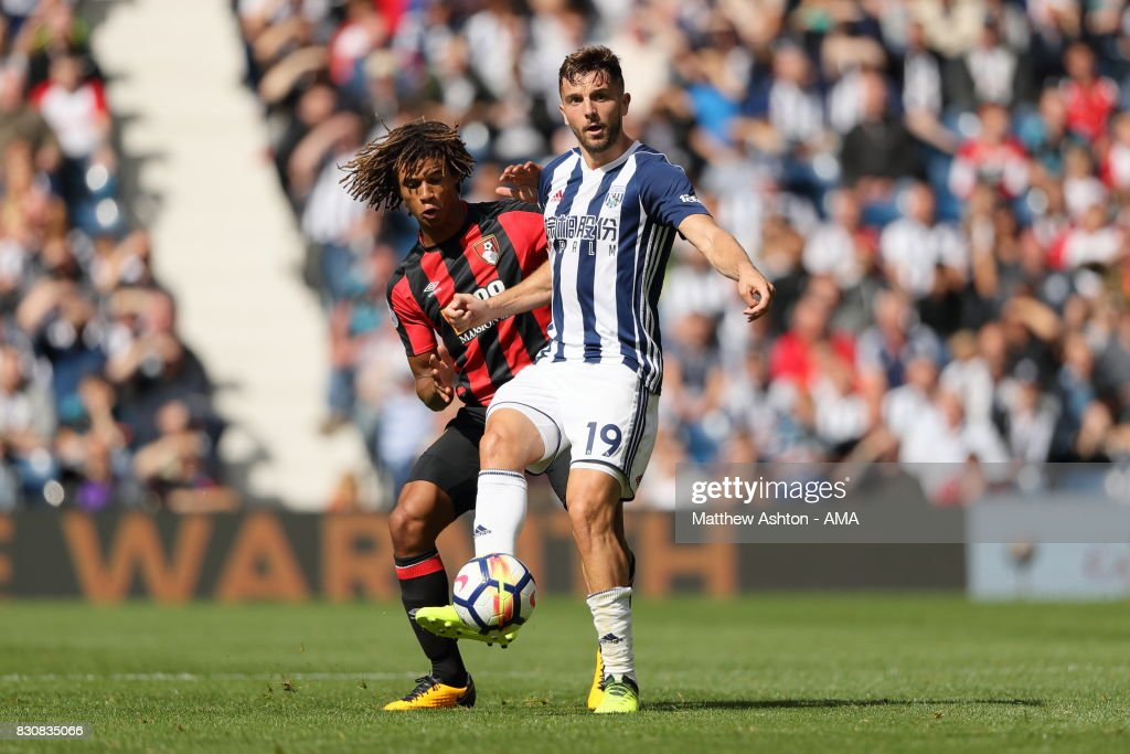 Jay Rodriguez of West Bromwich Albion during the Premier League match between West Bromwich Albion and AFC Bournemouth at The Hawthorns on August 12, 2017 in West Bromwich, England.
