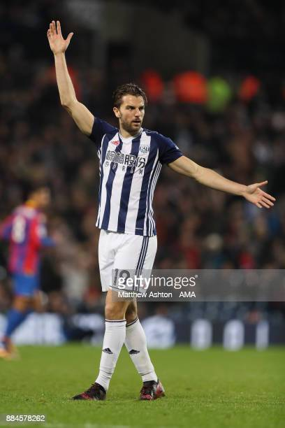Jay Rodriguez of West Bromwich Albion during the Premier League match between West Bromwich Albion and Crystal Palace at The Hawthorns on December 2...