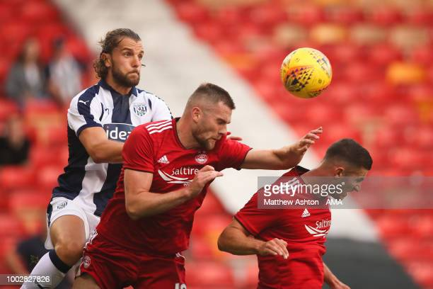 Jay Rodriguez of West Bromwich Albion during the PreSeason Friendly between Aberdeen and West Bromwich Albion at Pittodrie Stadium on July 20 2018 in...