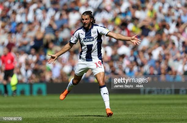 Jay Rodriguez of West Bromwich Albion during the Sky Bet Championship match between West Bromwich Albion and Bolton Wanderers at The Hawthorns on...