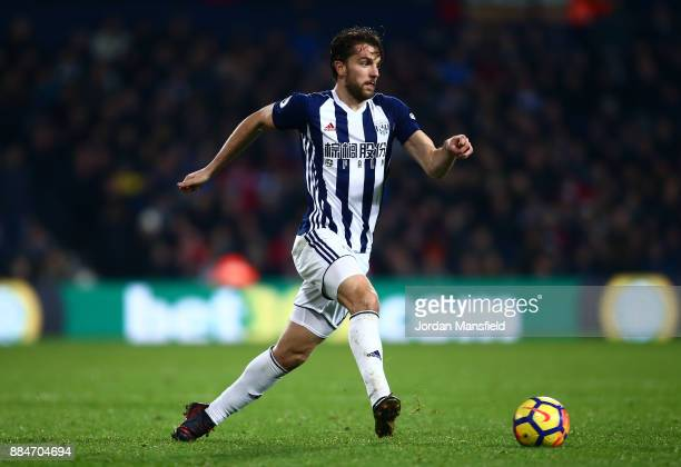 Jay Rodriguez of West Bromwich Albion in action during the Premier League match between West Bromwich Albion and Crystal Palace at The Hawthorns on...
