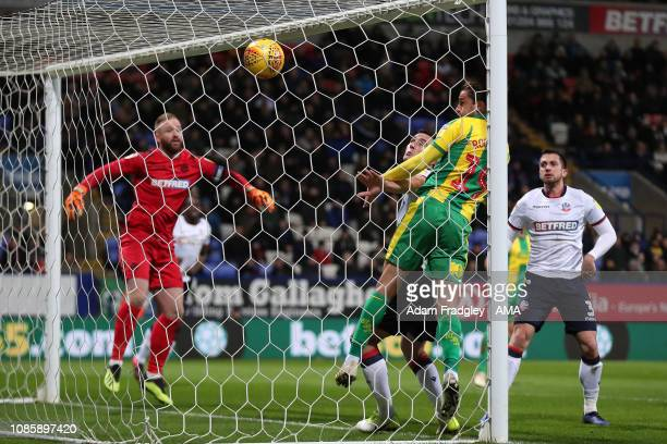 Jay Rodriguez of West Bromwich Albion scores a goal to make it 01 during the Sky Bet Championship match between Bolton Wanderers and West Bromwich...