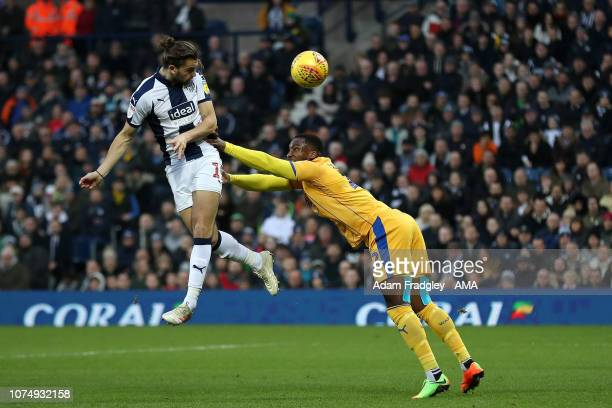 Jay Rodriguez of West Bromwich Albion scores a goal to make it 10 during the Sky Bet Championship match between West Bromwich Albion and Wigan...