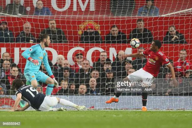 Jay Rodriguez of West Bromwich Albion scores a goal to make it 10 during the Premier League match between Manchester United and West Bromwich Albion...