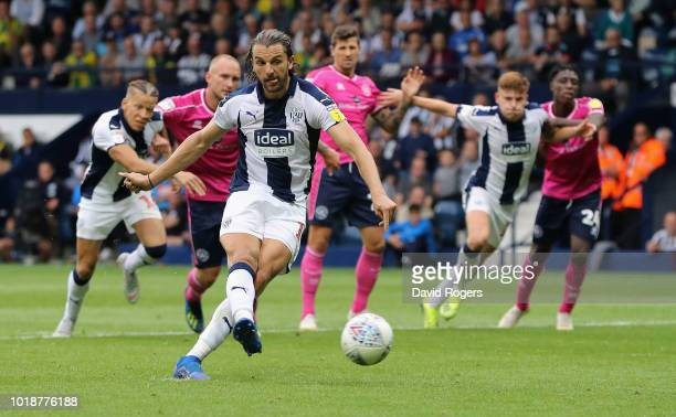 Harvey Barnes of West Bromwich Albion runs with the ball during the Sky Bet Championship match between West Bromwich Albion and Queens Park Rangers...
