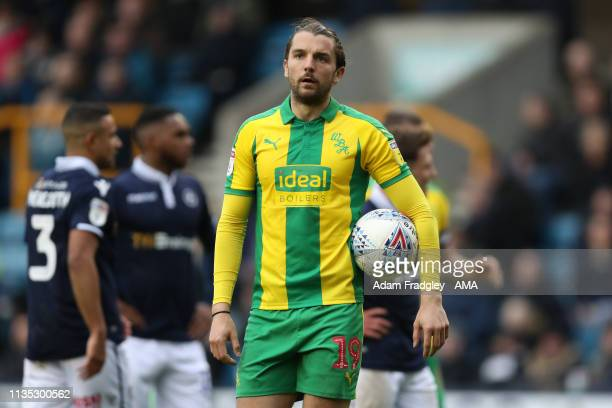Jay Rodriguez of West Bromwich Albion who failed to score a penalty during the Sky Bet Football League One match between Millwall and West Bromwich...