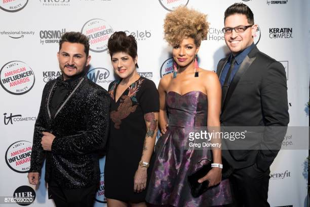 Jay Rua Chita Beseau Leysa Carrillo and Ricardo Santiago attend the American Influencer Award at The Novo by Microsoft on November 18 2017 in Los...