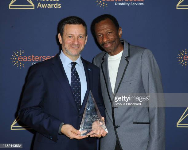 Jay Ruderman and CJ Jones attend the 40th Annual Media Access Awards In Partnership With Easterseals at The Beverly Hilton Hotel on November 14, 2019...