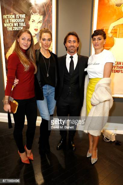 Jay Rutland and guests attend an intimate VIP private view for The Connor Brothers with catering by Michelin Starred chef Tom Sellers at Maddox...