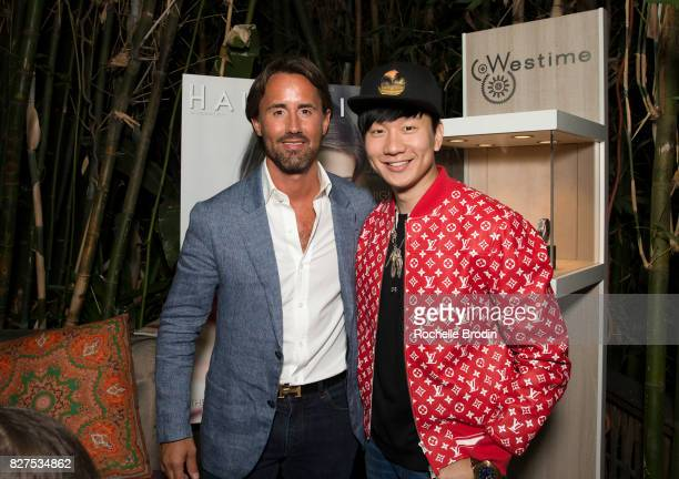 Jay Rutland and JJ Lin attend the Haute Living Celebrates Kate Mara with Westime event on August 7 2017 in Los Angeles California