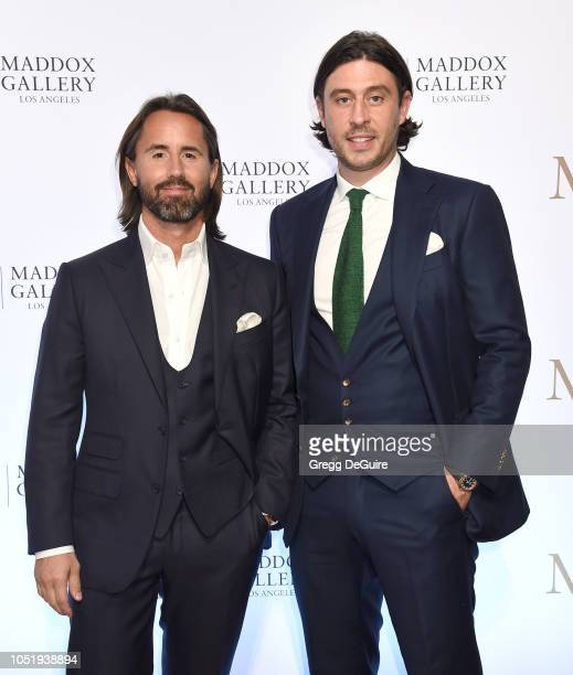 Jay Rutland and Sam Palmer attend the VIP Opening of Maddox Gallery Exhibition Best Of British at Maddox Gallery on October 11 2018 in Los Angeles...