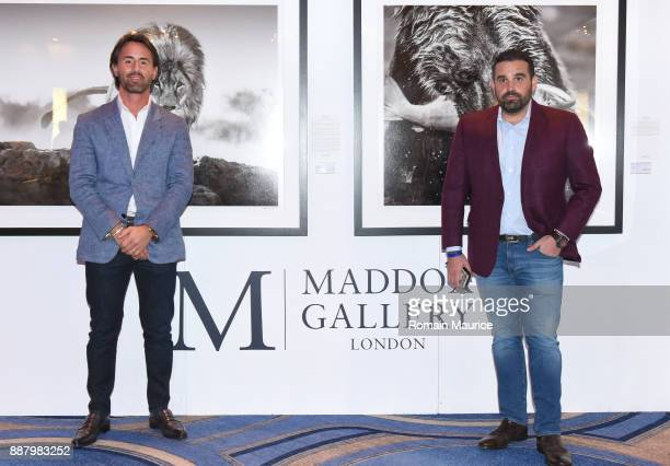 Jay Rutland and Seth Leminof attend Haute Living's VIP PopUp Opening of Alec Monopoly from Art Life and David Yarrow from Maddox Gallery at Fleur De...