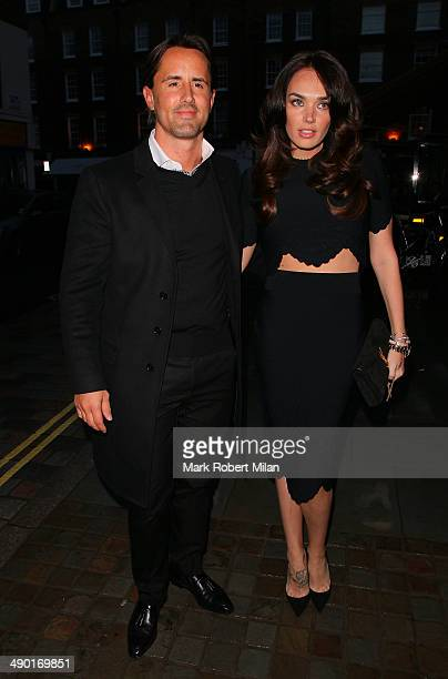 Jay Rutland and Tamara Ecclestone arriving at the Chiltern Firehouse on May 13 2014 in London England