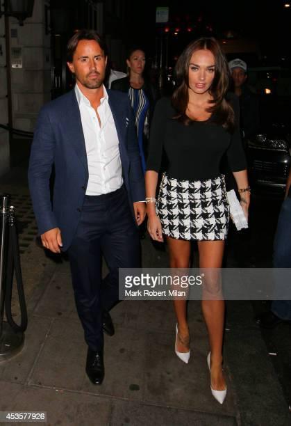 Jay Rutland and Tamara Ecclestone at Nobu Berkeley restaurant on August 13 2014 in London England
