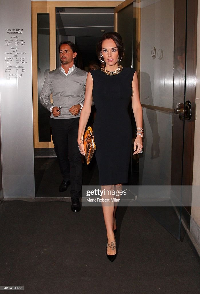 Jay Rutland and Tamara Ecclestone at Nobu Berkeley to celebrate Tamara Ecclestone's birthday on June 28, 2014 in London, England.