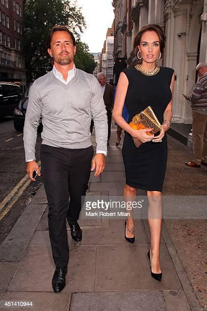Jay Rutland and Tamara Ecclestone at Nobu Berkeley to celebrate Tamara Ecclestone's birthday on June 28 2014 in London England