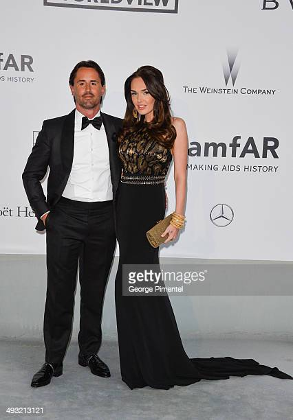 Jay Rutland and Tamara Ecclestone attend amfAR's 21st Cinema Against AIDS Gala, Presented By WORLDVIEW, BOLD FILMS, And BVLGARI at the 67th Annual...