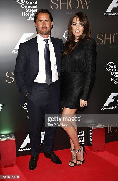 Jay Rutland and Tamara Ecclestone attend The F1 Party in aid of the Great Ormond Street Children's Hospital at Victoria and Albert Museum on July 2...