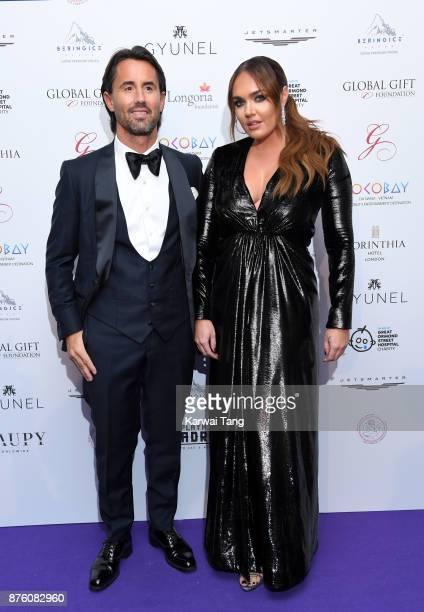 Jay Rutland and Tamara Ecclestone attend The Global Gift gala held at the Corinthia Hotel on November 18 2017 in London England