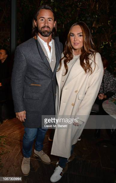 Jay Rutland and Tamara Ecclestone attend The Ivy Chelsea Garden's annual Guy Fawkes party on November 4 2018 in London England