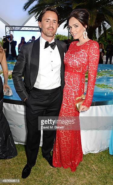 Jay Rutland and Tamara Ecclestone attend the welcome party for Puerto Azul Experience Night at Villa St George on May 21 2014 in Cannes France
