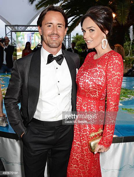 Jay Rutland and Tamara Ecclestone attend the welcome party for Puerto Azul Experience Night at Villa St George on May 21, 2014 in Cannes, France.
