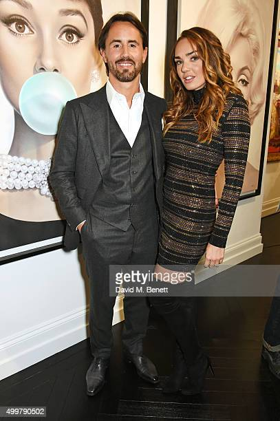 Jay Rutland and Tamara Ecclestone Rutland attends the Maddox Gallery launch exhibition on December 3 2015 in London England