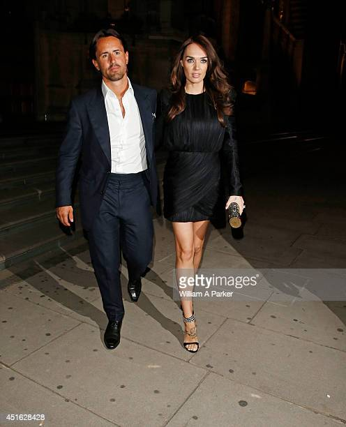 Jay Rutland and Tamara Ecclestone seen leaving The F1 Party on July 2 2014 in London England
