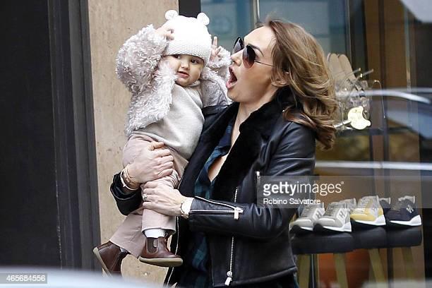 Jay Rutland and Tamara Ecclestone sightings in Milan on March 9 2015 in Milan Italy