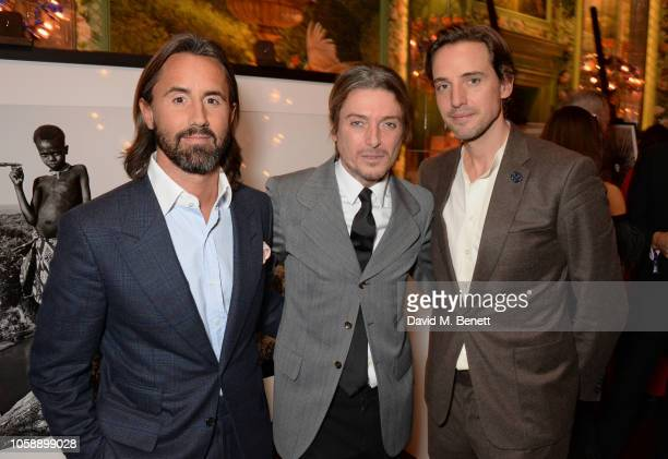 Jay Rutland Darren Strowger and Alexander Gilkes attend the Annabel's Art Auction fundraiser in aid of Teenage Cancer Trust Teen Cancer America at...