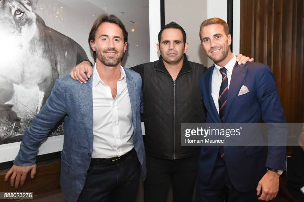 Jay Rutland Eduardo Serio and Victor Blanquard attend Haute Living's VIP PopUp Opening Of Alec Monopoly From Art Life And David Yarrow From Medal's...