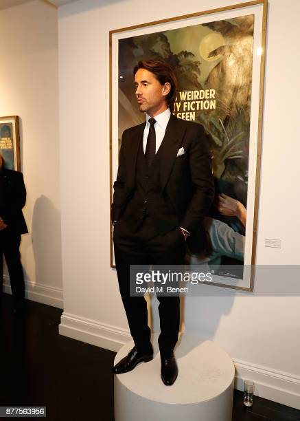 Jay Rutland speaks at a intimate VIP private view for The Connor Brothers with catering by Michelin Starred chef Tom Sellers at Maddox Gallery on...