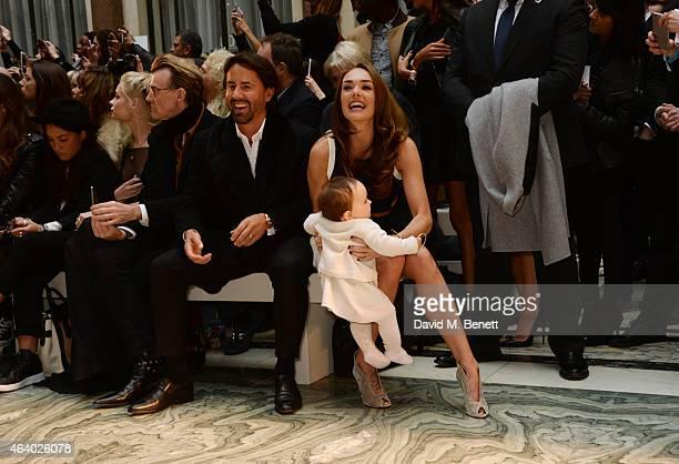 Jay Rutland Tamara Ecclestone and baby Sophia attend the Julien Macdonald show during London Fashion Week Fall/Winter 2015/16 at British Foreign and...