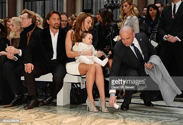Jay Rutland Tamara Ecclestone and baby Sophia attend the Julien Macdonald show during London Fashion Week Fall/Winter 2015/16 at British Foreign and...