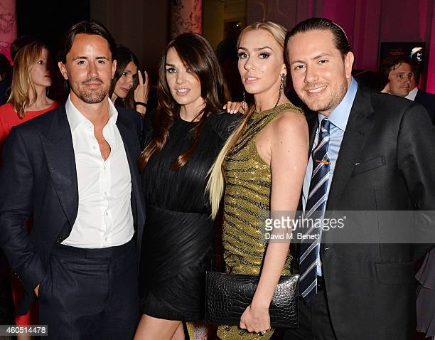 Jay Rutland Tamara Ecclestone Petra Stunt and James Stunt attend The F1 Party in aid of the Great Ormond Street Children's Hospital at the Victoria...