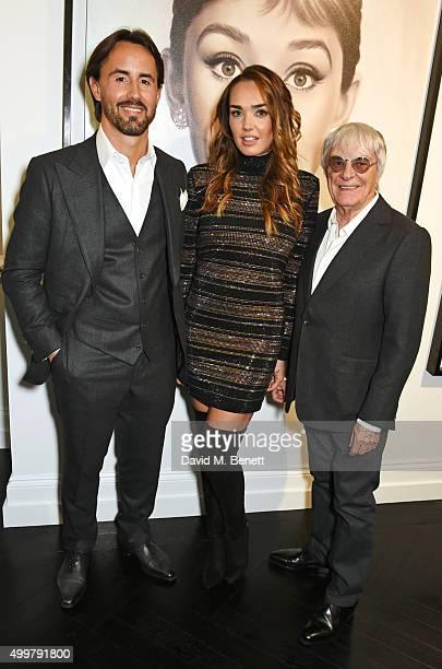 Jay Rutland Tamara Ecclestone Rutland and Bernie Ecclestone attend the Maddox Gallery launch exhibition on December 3 2015 in London England