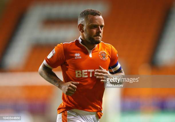 Jay Spearing of Blackpool during the Carabao Cup Third Round match between Blackpool and Queens Park Rangers at Bloomfield Road on September 25 2018...