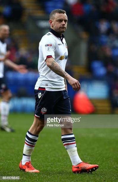 Jay Spearing of Bolton Wanderers in action during the Sky Bet League One match between Bolton Wanderers and Northampton Town at Macron Stadium on...