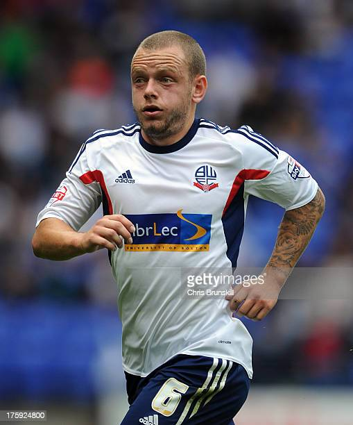 Jay Spearing of Bolton Wanderers in action during the Sky Bet Championship match between Bolton Wanderers and Reading at Reebok Stadium on August 10...