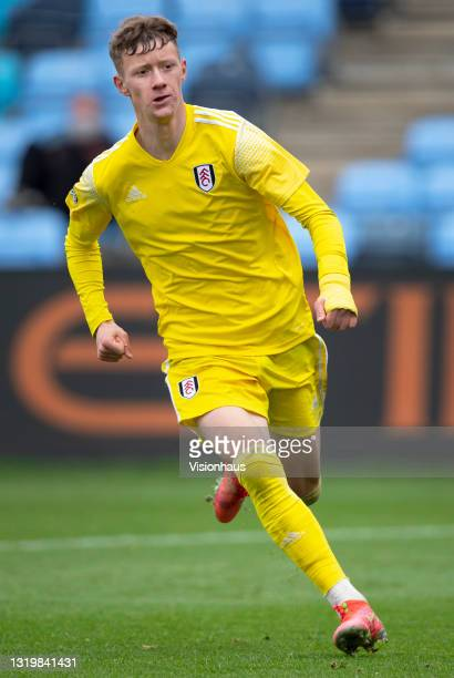 Jay Stansfield of Fulham during the U18 Premier League match between Manchester City and Fulham at The Academy Stadium on May 22, 2021 in Manchester,...