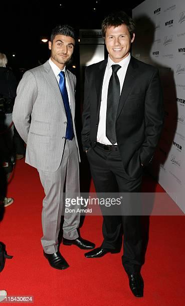 Jay Symons and Jason Dundas during Elle Macpherson Boudoir Collection Launch at Quay Restaurant in Sydney, Australia.