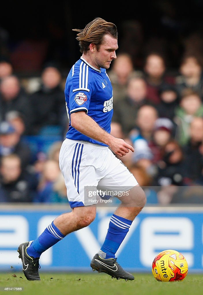 Jay Tabb of Ipswich Town in action during the Sky Bet Championship match between Ipswich Town and Derby County at Portman Road on January 10, 2015 in Ipswich, England.