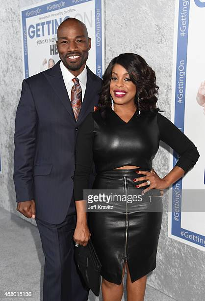 Jay Tucker and actress Niecy Nash attend the HBO Getting On Season 2 Los Angeles Premiere at Avalon on October 28 2014 in Hollywood California